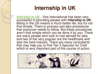 Internship in UK