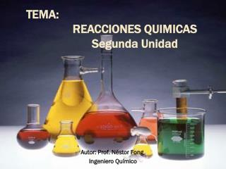 Autor: Prof. Néstor Fong  Ingeniero Químico