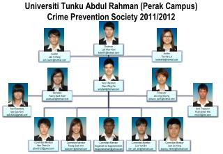 Universiti Tunku Abdul Rahman (Perak Campus) Crime Prevention Society 2011/2012