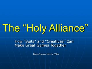 "The ""Holy Alliance"""
