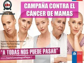 CAMPAÑA CONTRA EL CÁNCER DE MAMAS