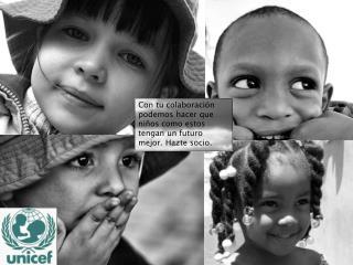 Con tu colaboración podemos hacer que niños como estos tengan un futuro mejor. Hazte socio.