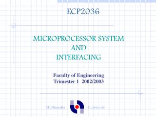 MICROPROCESSOR SYSTEM  AND  INTERFACING