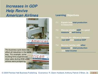 Increases in GDP  Help Revive  American Airlines