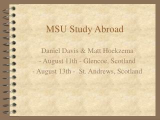 MSU Study Abroad