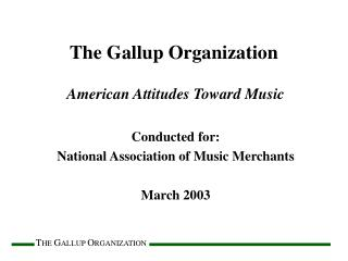 The Gallup Organization