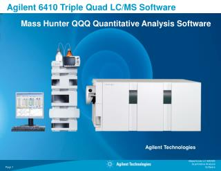 Agilent 6410 Triple Quad LC/MS Software