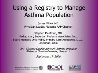 Using a Registry to Manage Asthma Population
