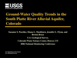 Ground-Water Quality Trends in the South Platte River Alluvial Aquifer, Colorado