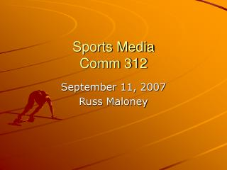 Sports Media Comm 312