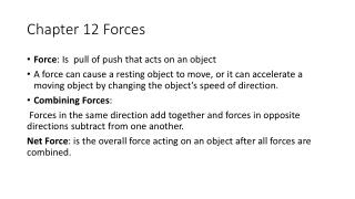 Chapter 12 Forces