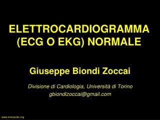 ELETTROCARDIOGRAMMA (ECG O EKG) NORMALE