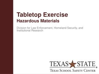 Tabletop  Exercise Hazardous  Materials