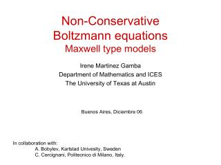 Non-Conservative  Boltzmann equations Maxwell type models
