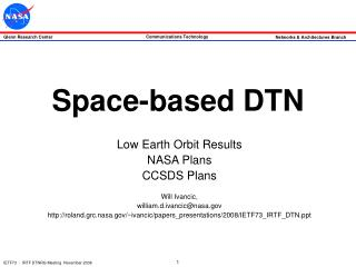 Space-based DTN