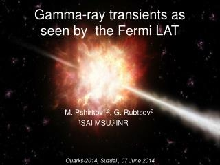 Gamma-ray transients as seen by  the Fermi LAT