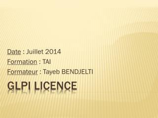 Glpi  licence