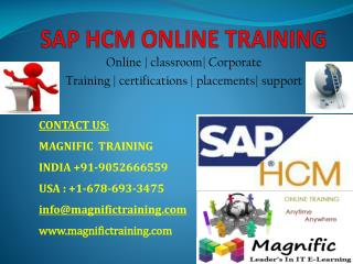 SAP HCM ONLINE TRAINING IN SOUTH AFRICA
