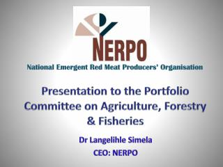 Presentation to the Portfolio Committee on Agriculture, Forestry & Fisheries