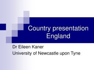 Country presentation England
