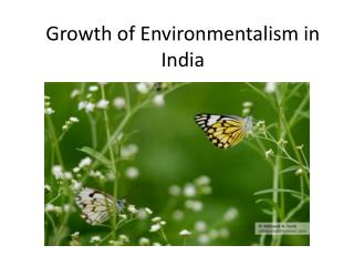 Growth of Environmentalism in India