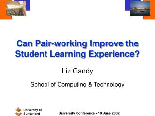 Can Pair-working Improve the Student Learning Experience?