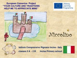 "European Comenius  Project  ""YOUR CULTURE AND TRADITIONS  HELP ME TO APPRECIATE MINE"""