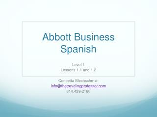 Abbott Business Spanish