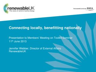 Connecting locally, benefitting nationally