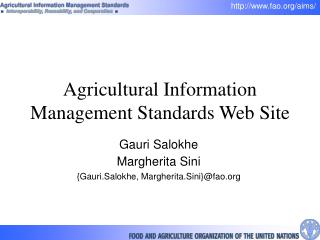 Agricultural Information Management Standards Web Site