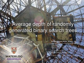 Average  depth of randomly generated binary search trees