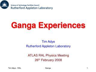 Ganga Experiences