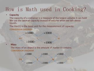 How is Math used in Cooking?