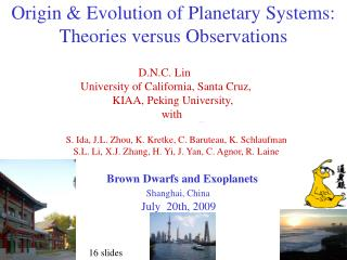 Origin & Evolution of Planetary Systems: Theories versus Observations