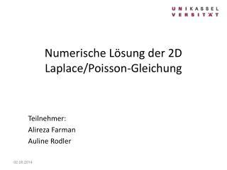 Numerische L sung der 2D Laplace