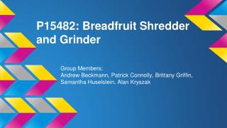 P15482: Breadfruit Shredder and Grinder