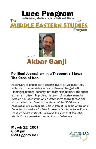 Political Journalism in a Theocratic State: The Case of Iran