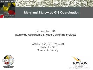 Maryland Statewide GIS Coordination