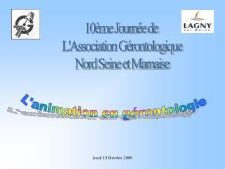 10ème Journée de  L'Association Gérontologique  Nord Seine et Marnaise