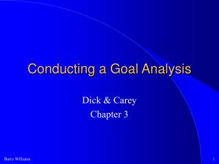 Conducting a Goal Analysis