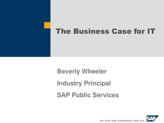 The Business Case for IT