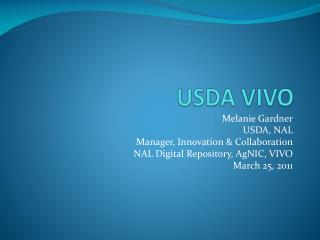 USDA VIVO