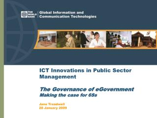ICT Innovations in Public Sector Management The Governance of eGovernment  Making the case for 6Ss