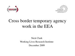 Cross border temporary agency work in the EEA