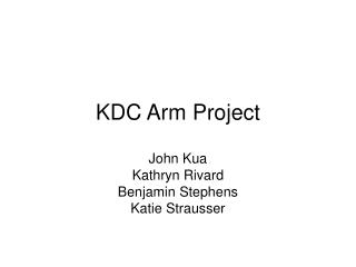 KDC Arm Project
