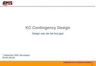 KC Contingency Design