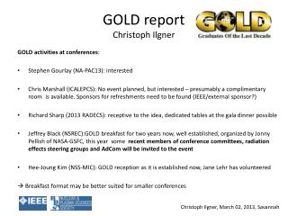 GOLD  report Christoph Ilgner
