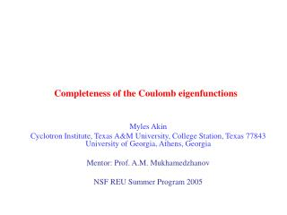 Completeness of the Coulomb eigenfunctions