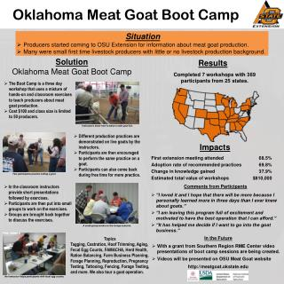 Oklahoma Meat Goat Boot Camp