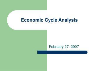 Economic Cycle Analysis